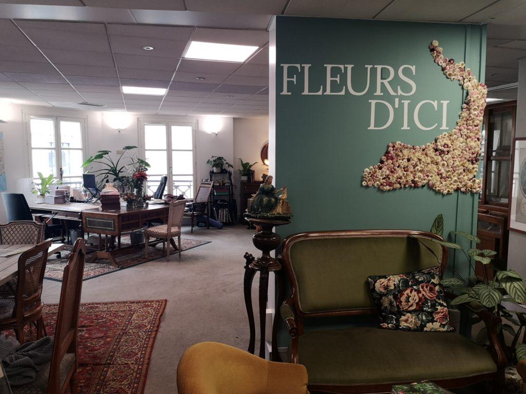 bureaux fleurs d-ici enregistrement podcast business positif