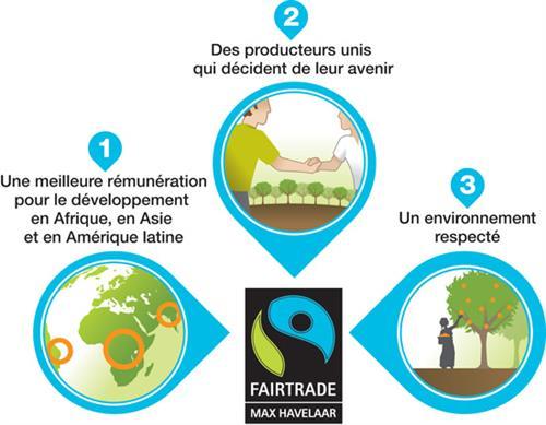 Infographie commerce équitable Max Havelaar France