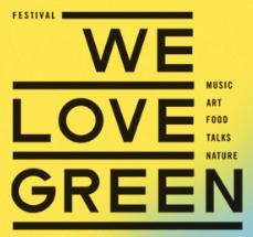 Logo We love green festival éco responsable